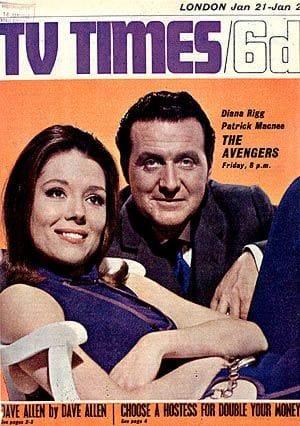 The Avengers en una portada de la época