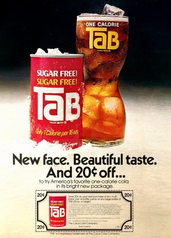 Anuncio de TAB de 1978