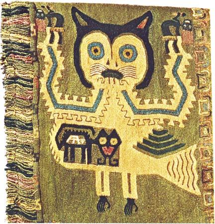 textil gato Paracas